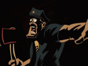 Axe Cop title sequence still